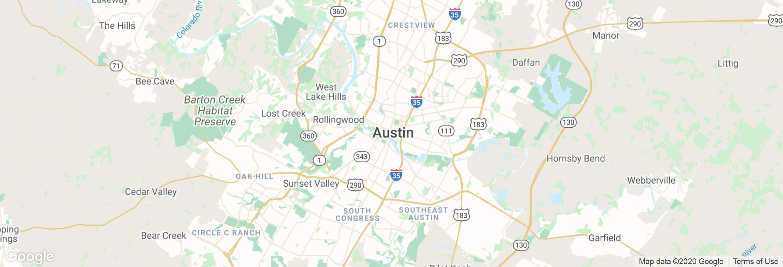 Austin city map