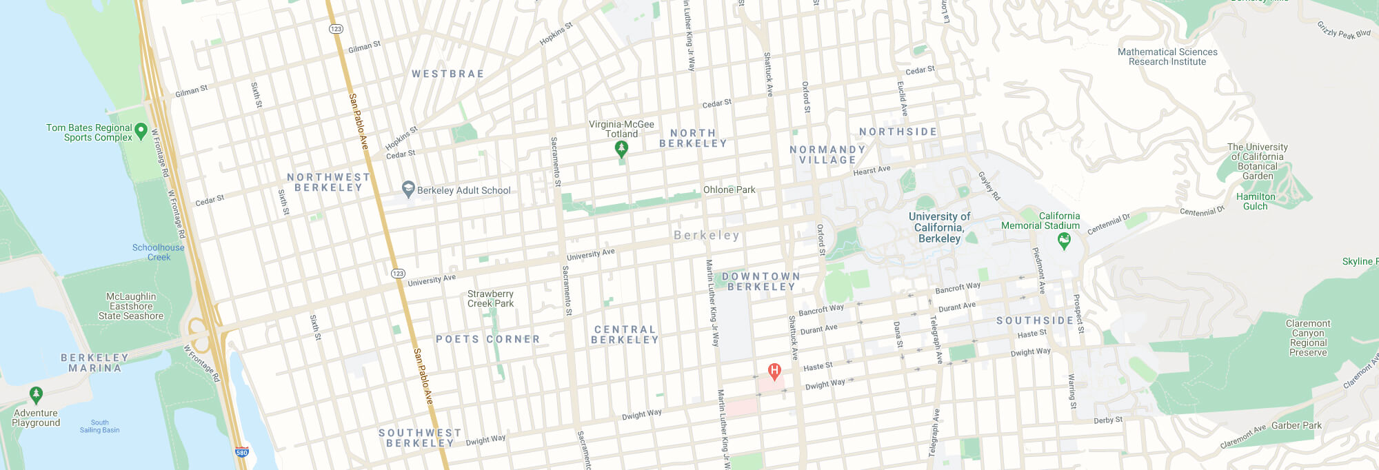 Berkeley city map