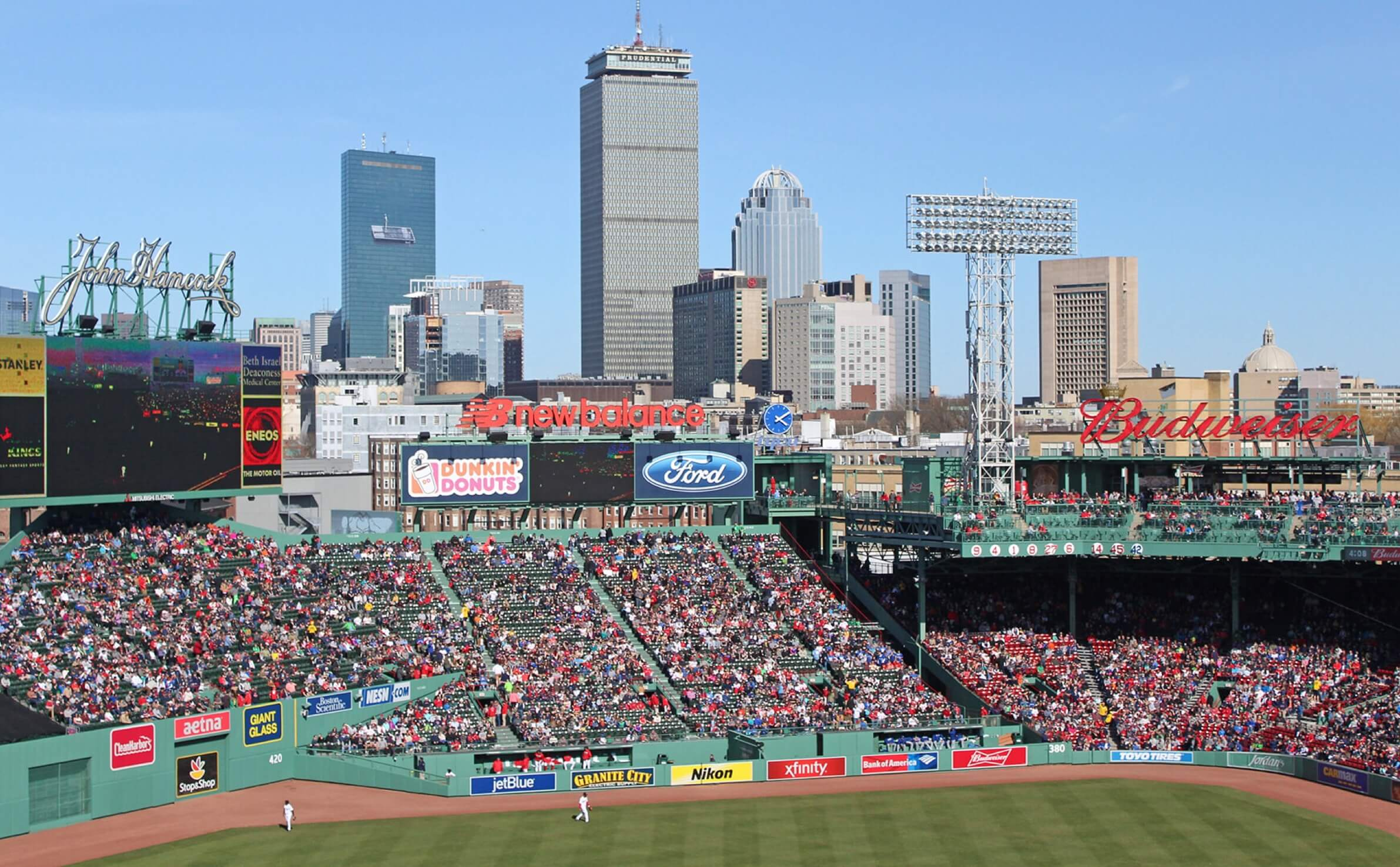 Fenway Stadium filled with fans