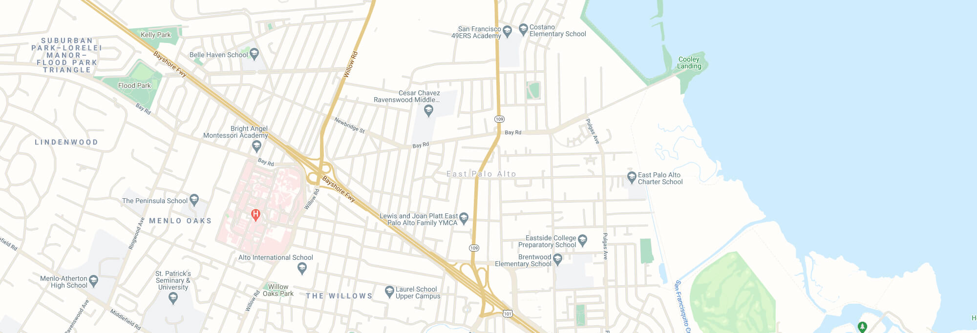 East Palo Alto city map