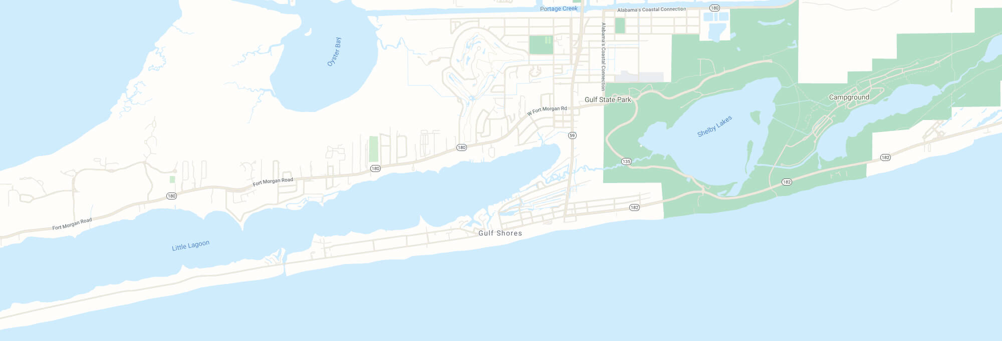 Gulf Shores city map