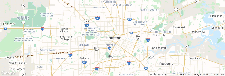 Houston city map