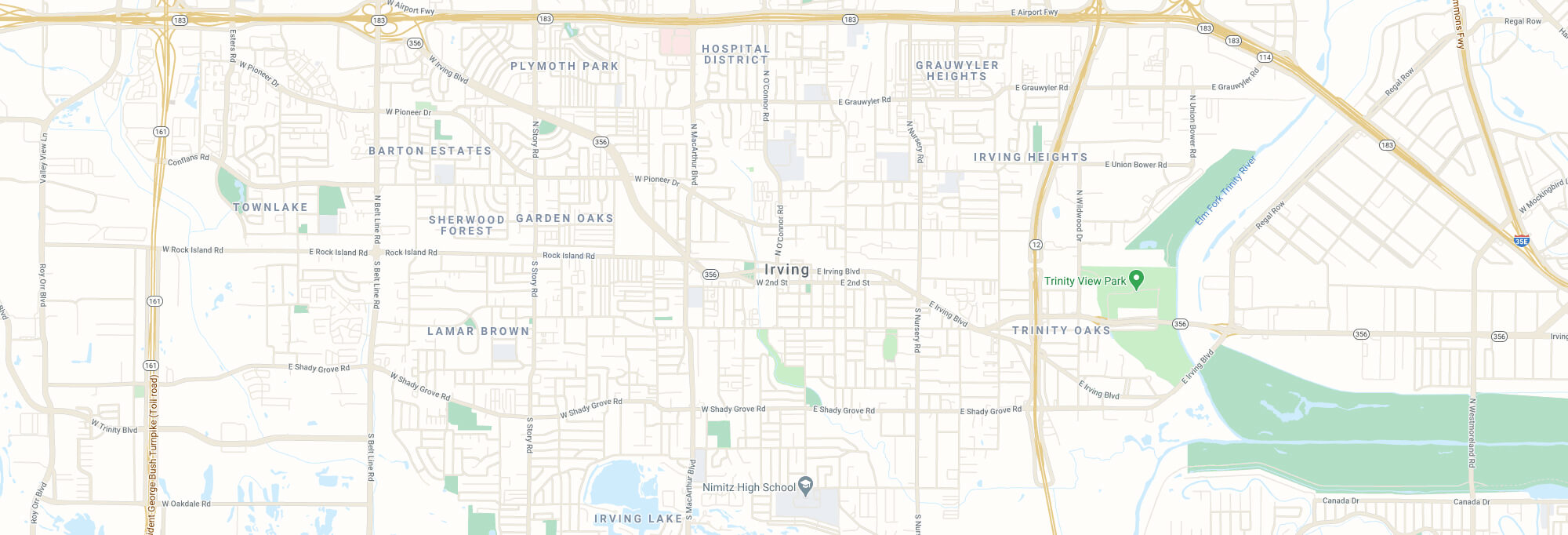 Irving city map