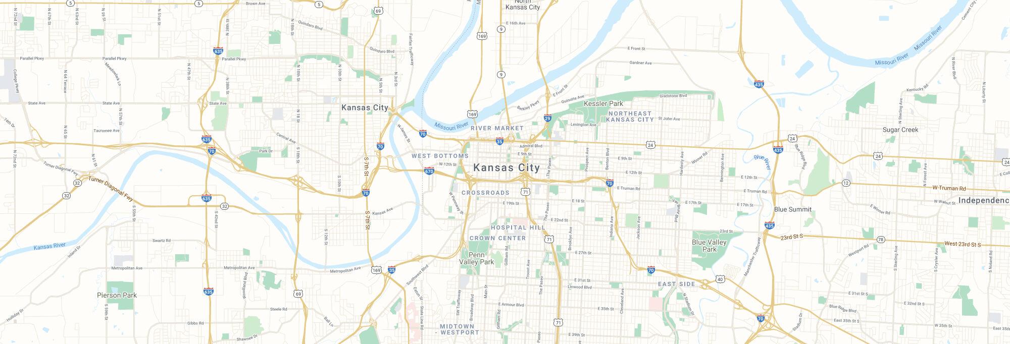 Kansas City city map