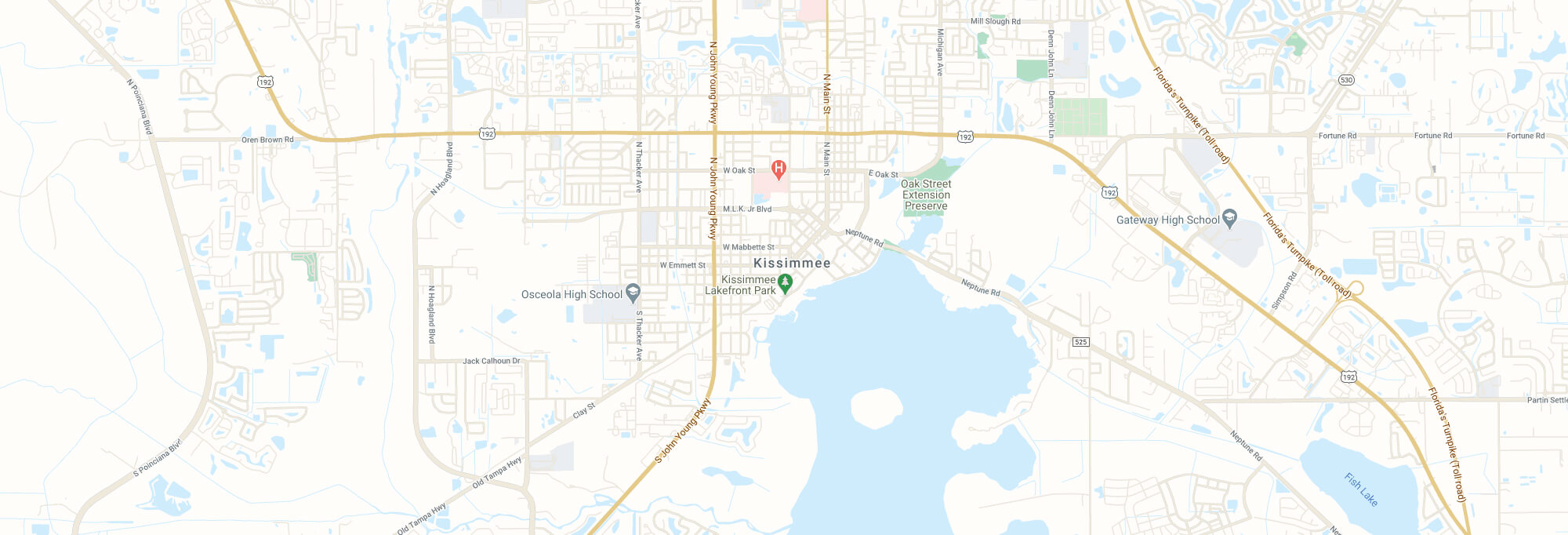 Kissimmee city map