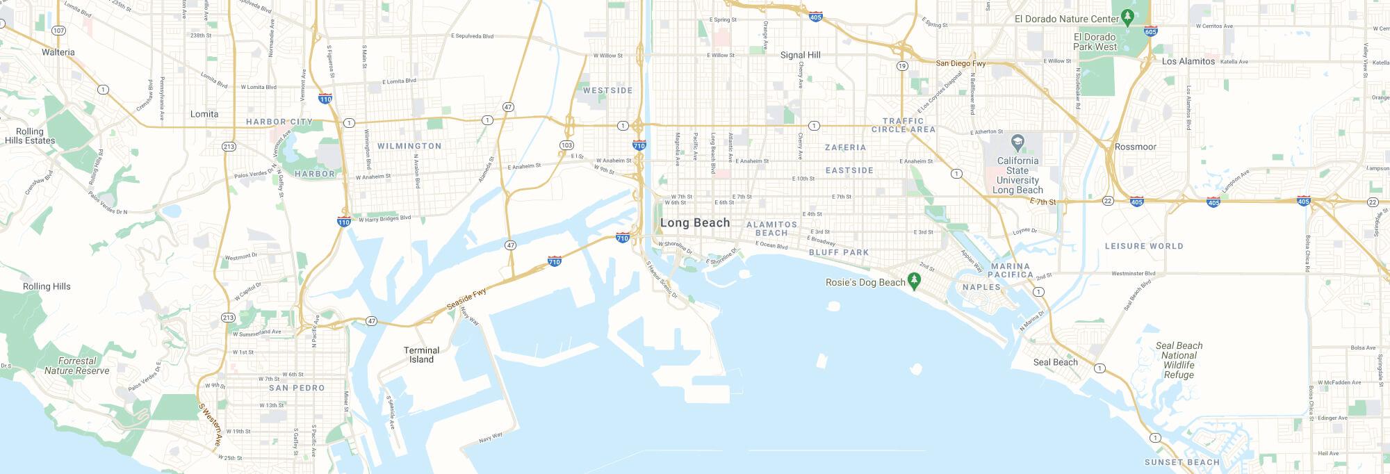 Long Beach city map