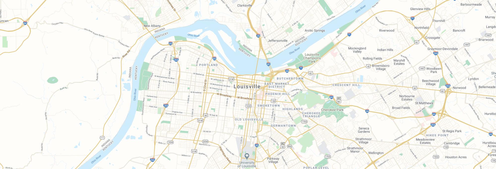 Louisville city map
