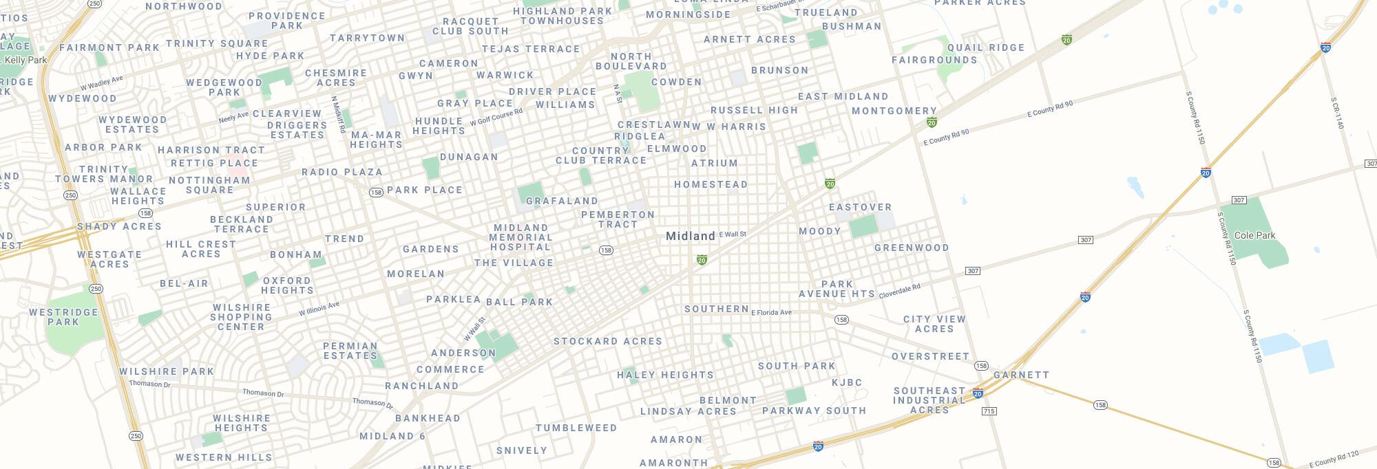 Midland city map