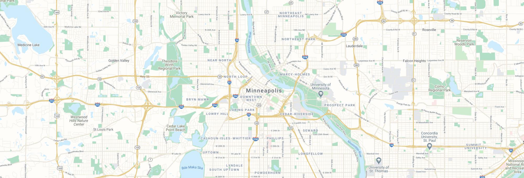 Minneapolis city map