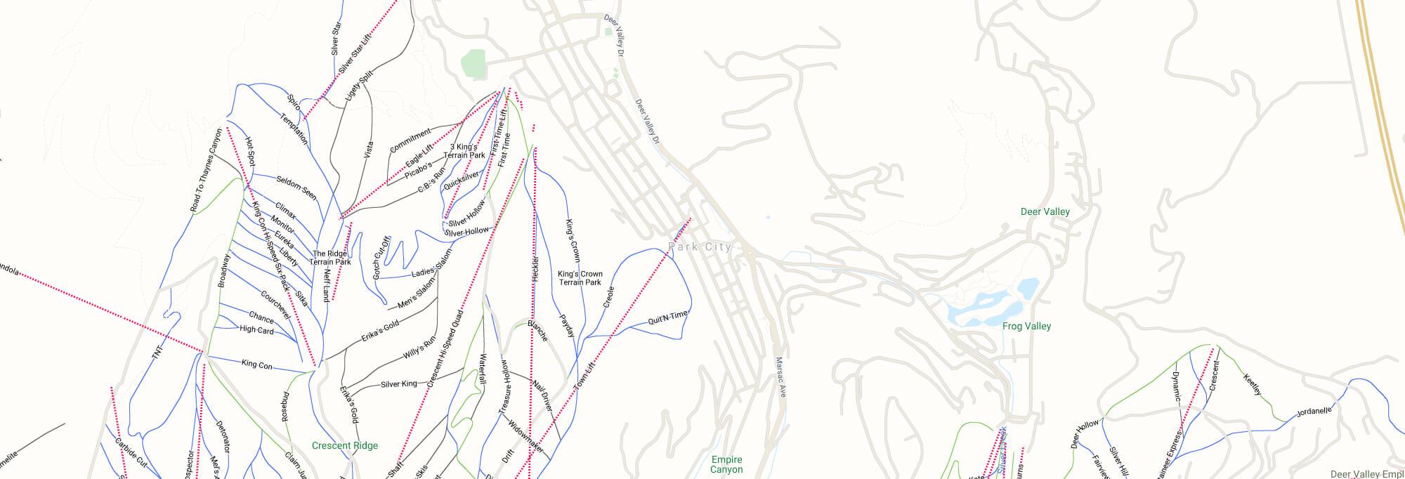 Park City city map