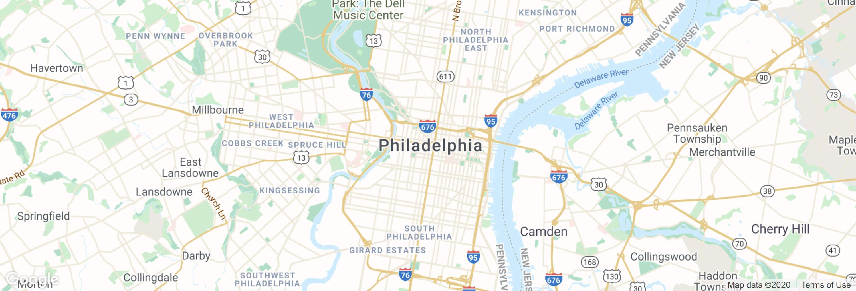 Philadelphia city map