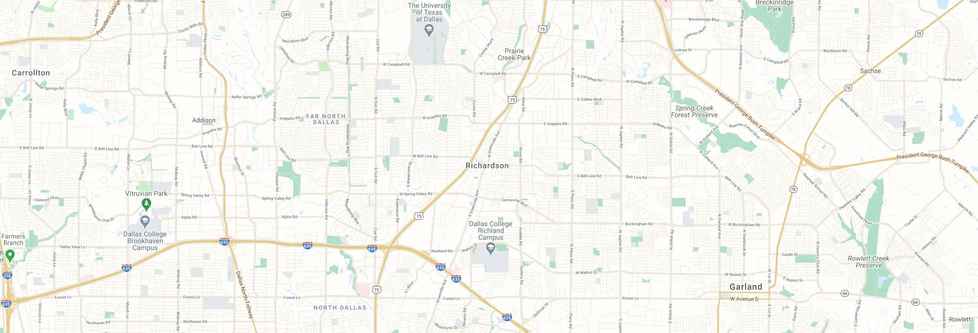 Richardson city map