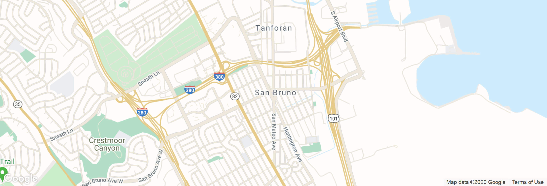 San Bruno city map