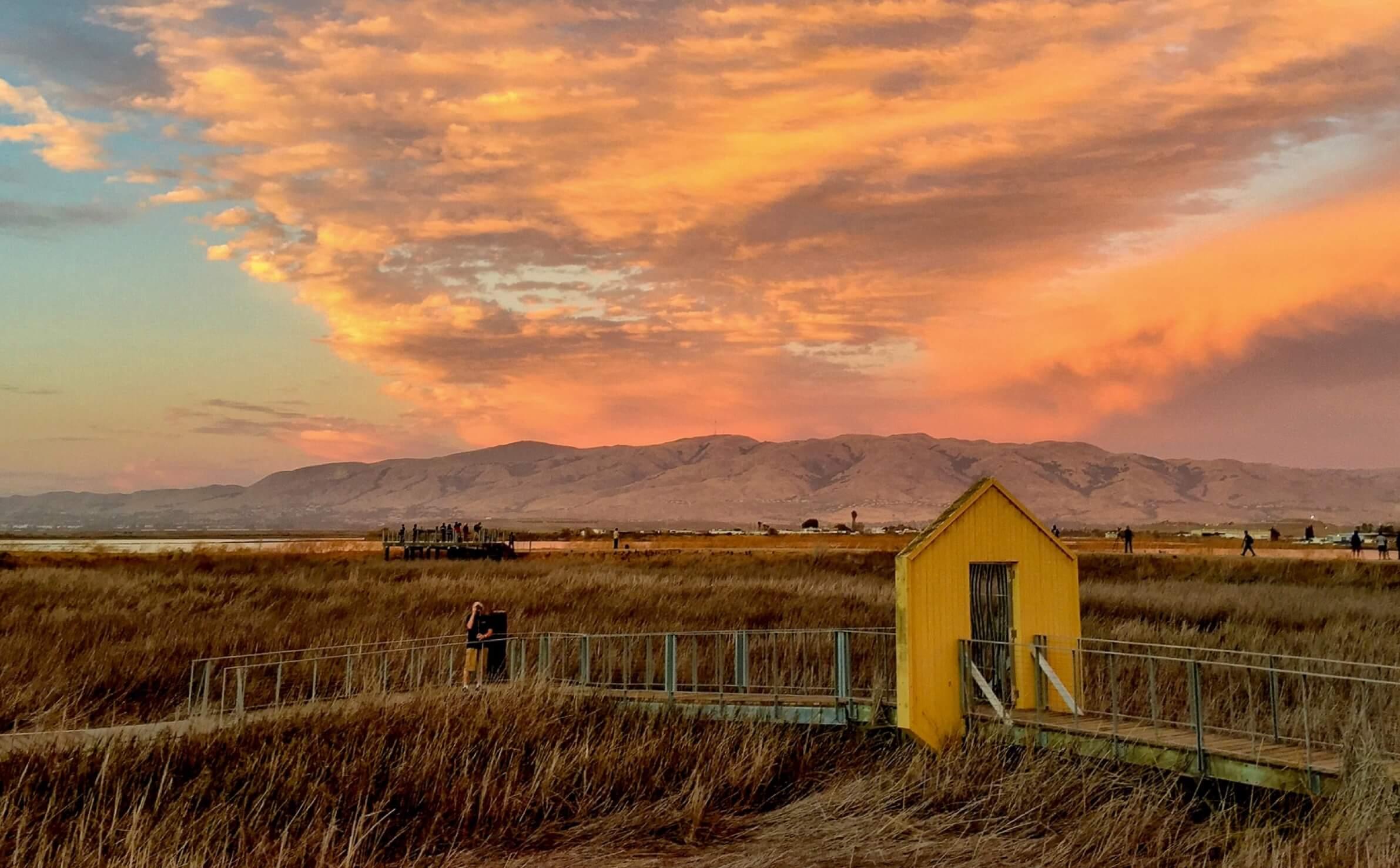 Sunset at Alviso Marina County Park