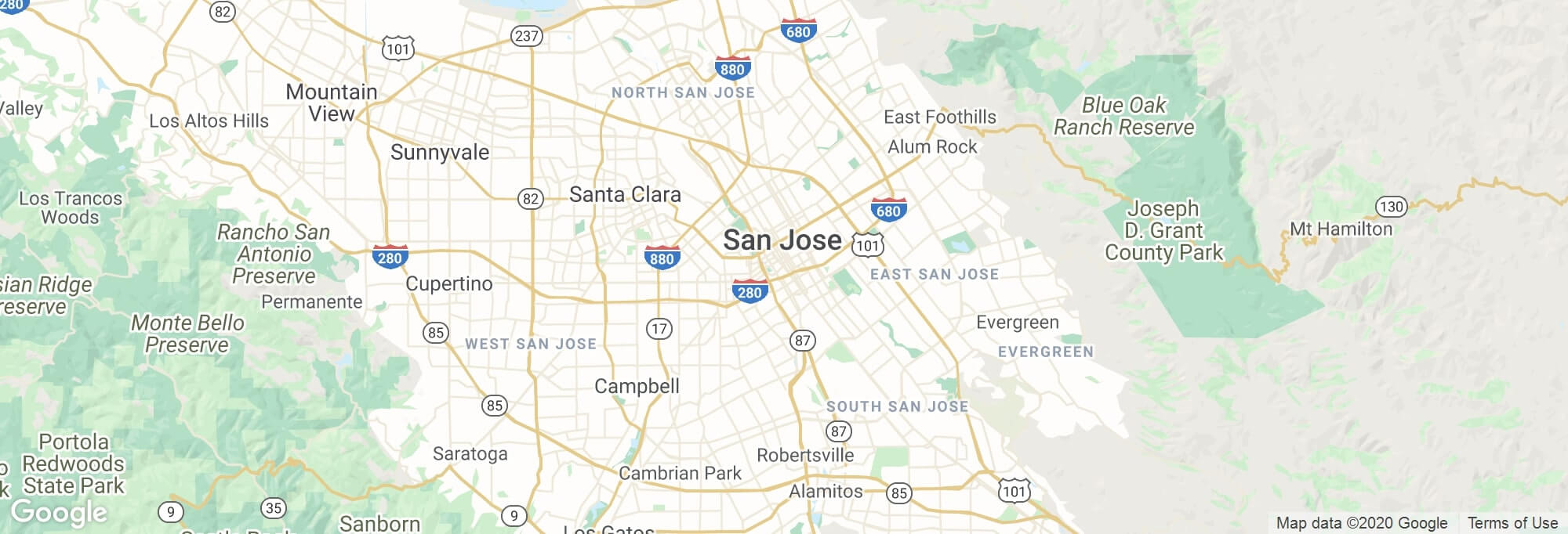San Jose city map