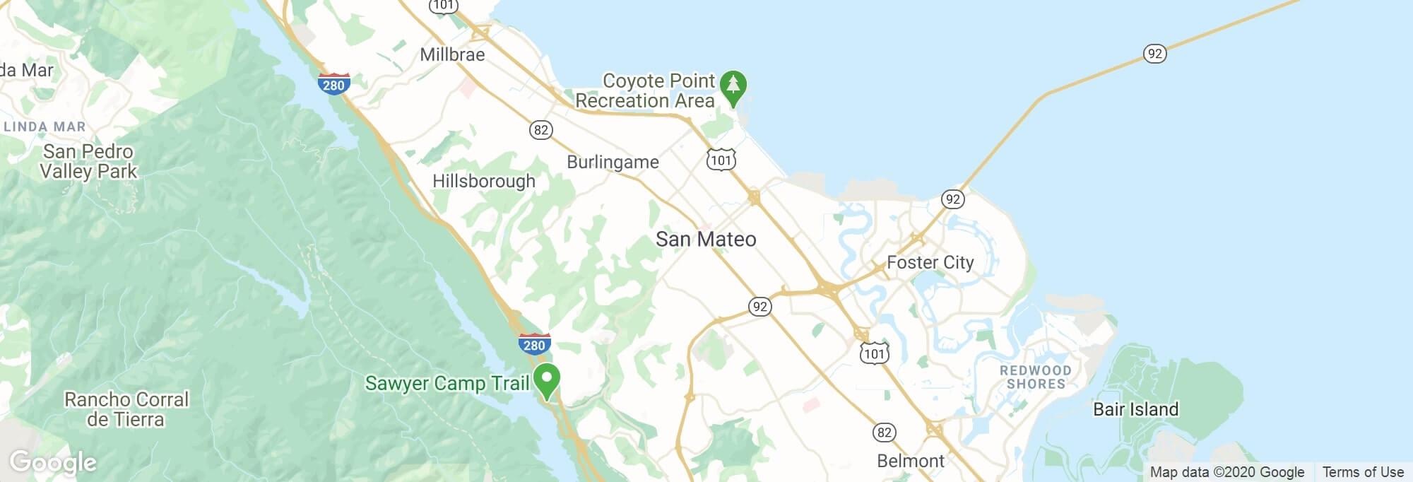 San Mateo city map