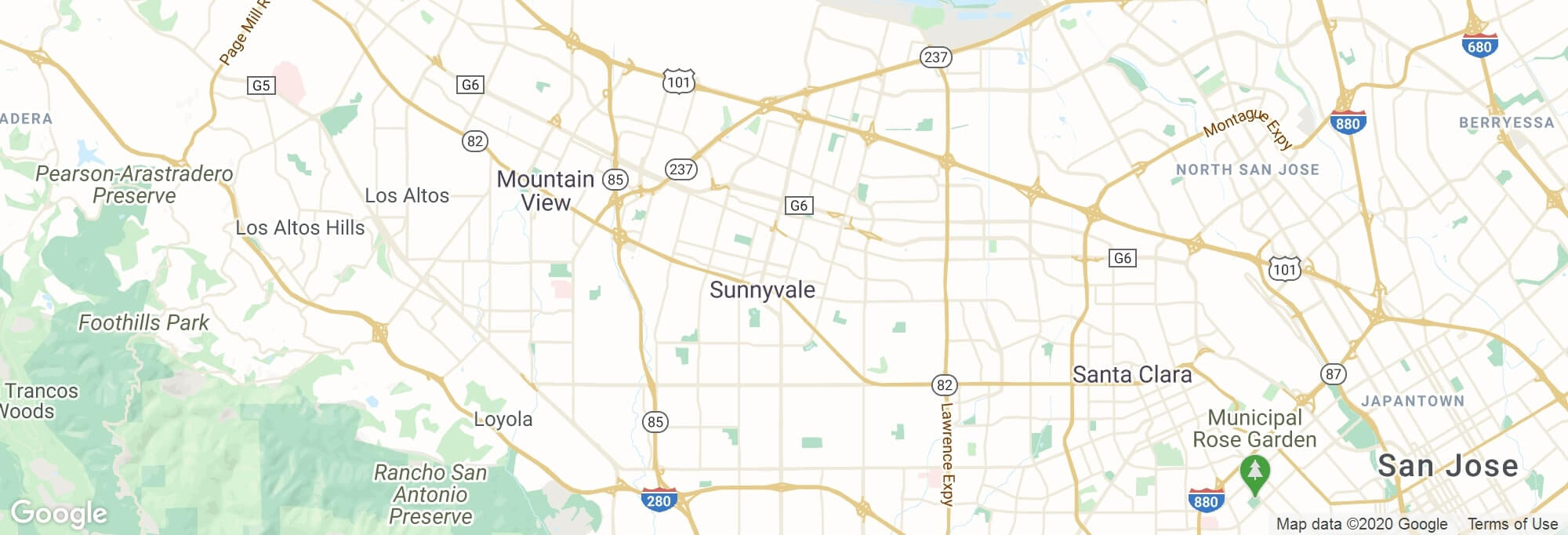 Sunnyvale city map
