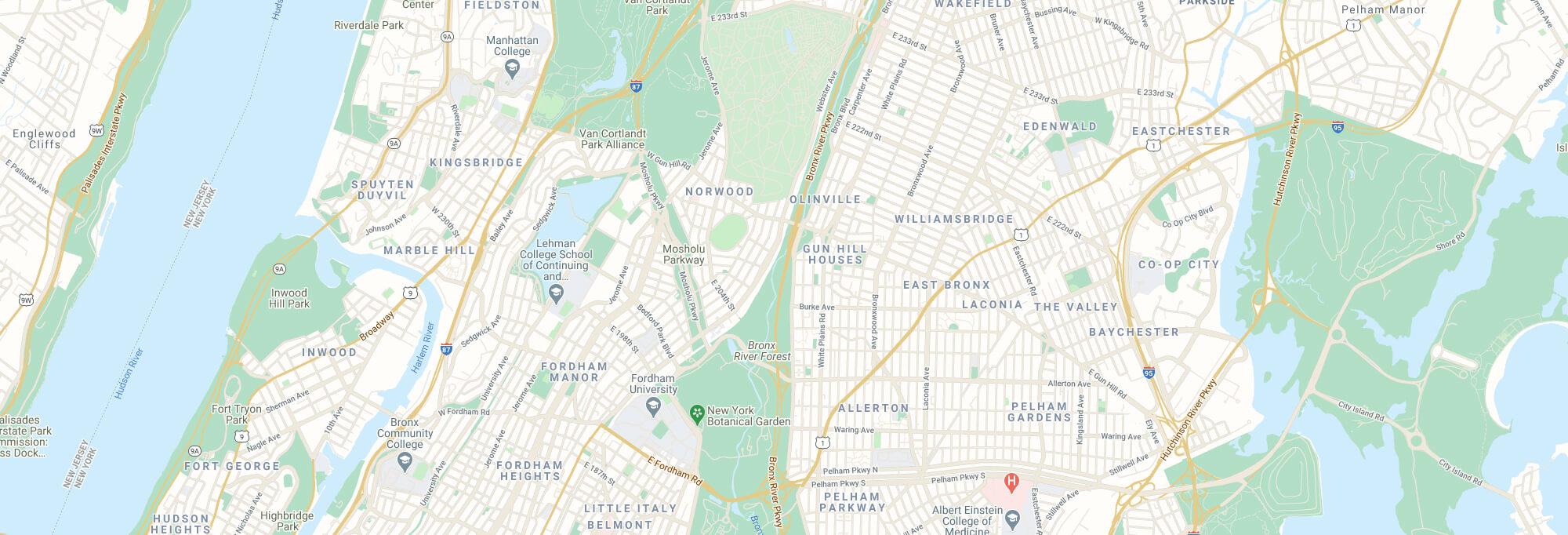 The Bronx city map