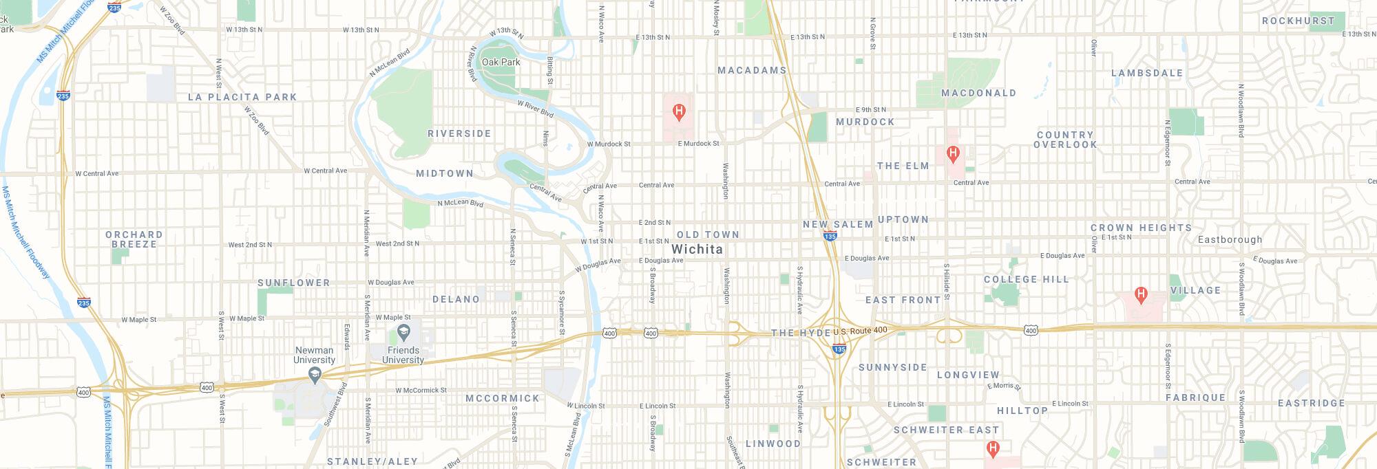 Wichita city map