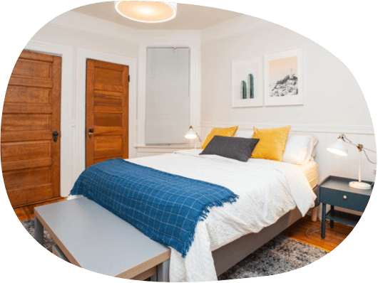 Furnished private or shared rooms in San Jose