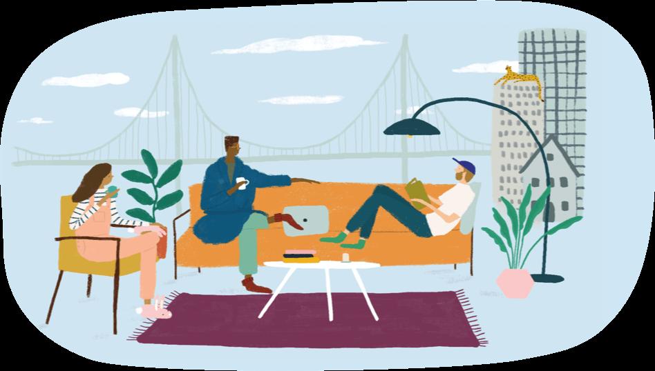 Furnished Kopa home for rent in San Francisco illustration